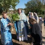 На молебне в  храме Успения Пресвятой Богородицы в селе Красный Городок